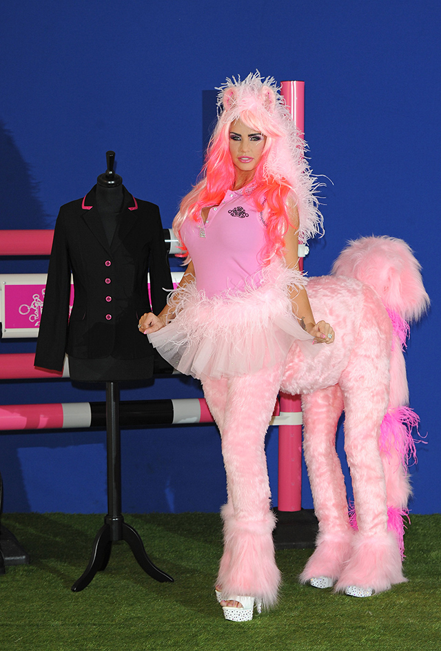 katie Price equestrian clothing press call